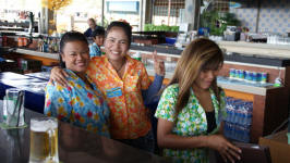 Bar Maids at The Pattay Beer Garden