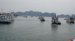Halong Bay - Leaving Harbour