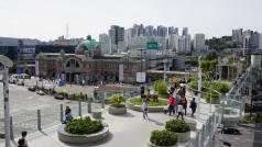Seoul Station From Seoullo 7017